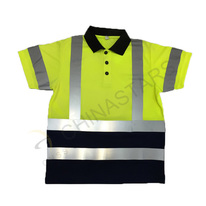 Double-color reflective Polo shirt