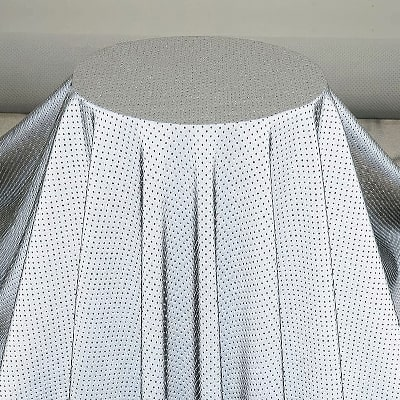 Perforated reflective fabric