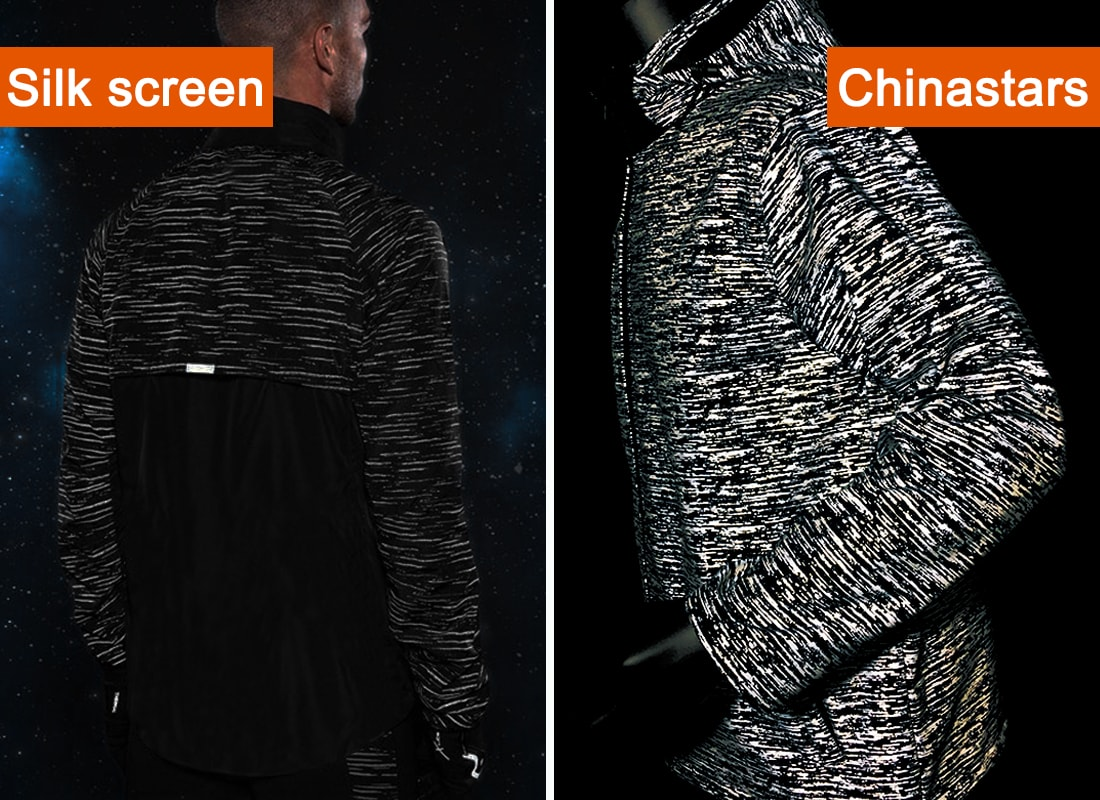 reflective printing fabric compare