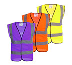 Different colors of the reflective vest