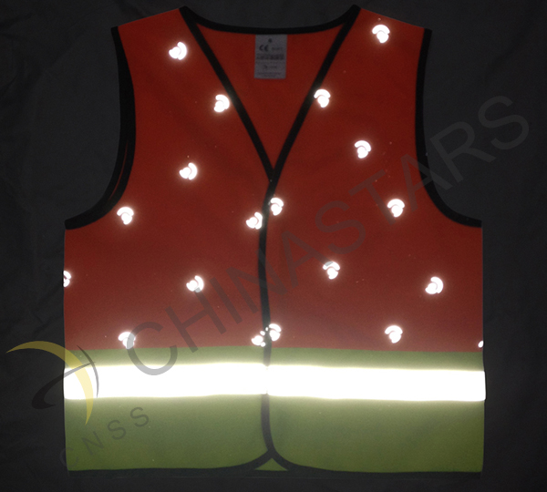 Wearing safety vest ensure students road safety