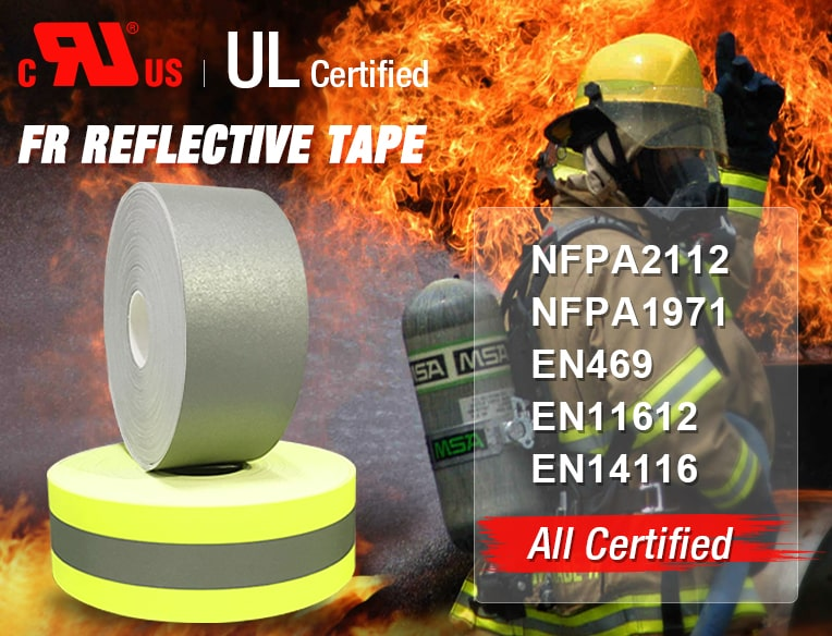 Fire retardant reflective tape