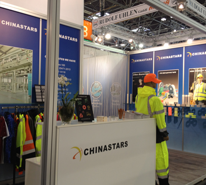 2015 Germany A+A Expo Chinastars refelctive material and fabric