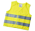 Riding safer with reflective vest