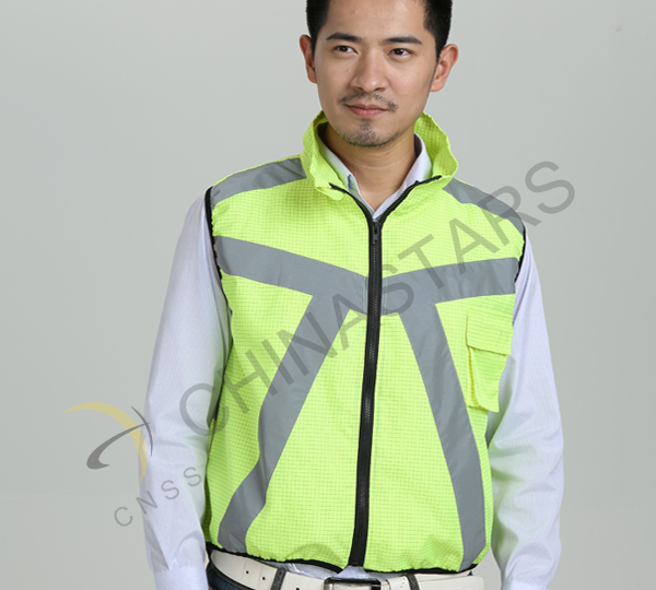Cyclist, be more visible by wearing reflective vest