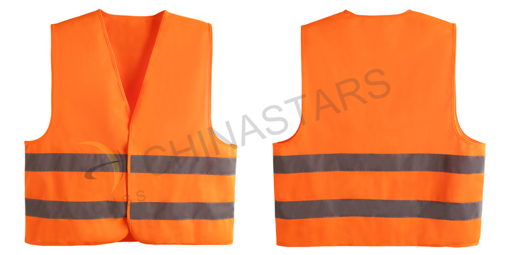 safety vest with reflective material