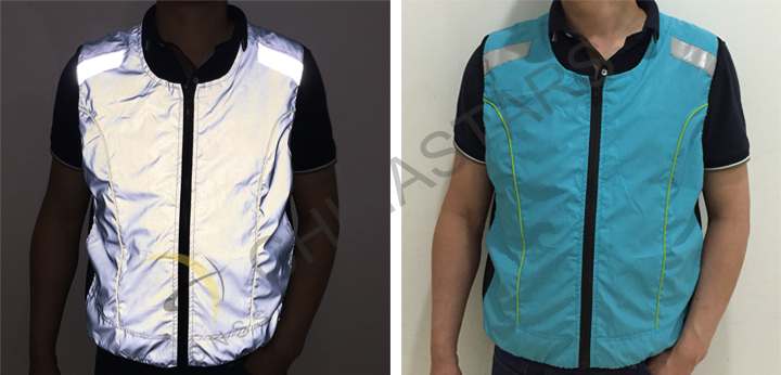 clothing with reflective tape