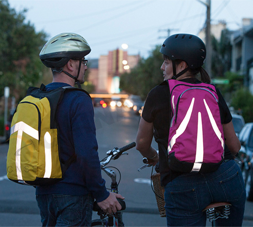DIY a unique reflective backpack to keep yourself safe