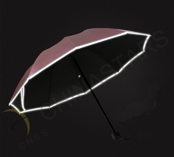 Umbrella with reflective edge