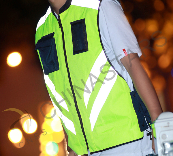 reflective vest for motocyclist