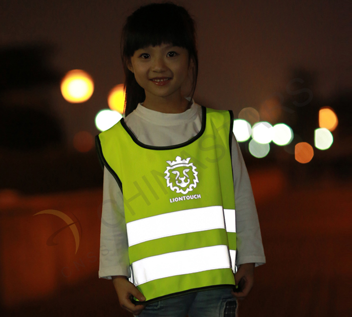 A tiny reflective vest, a safer situation