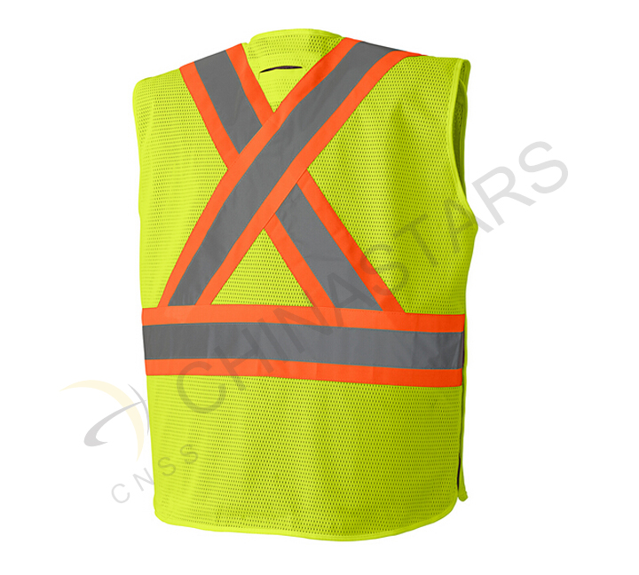 "People wearing safety vest in March ""help day"""