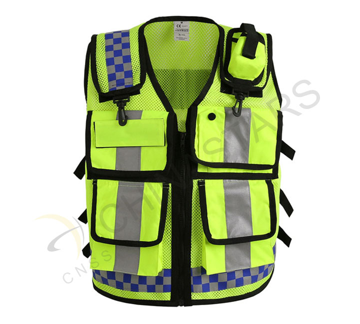 Hangzhou police into the enterprise issuing reflective vest