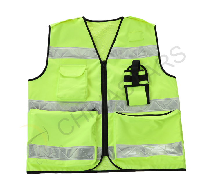 Hangzhou police with new reflective vests