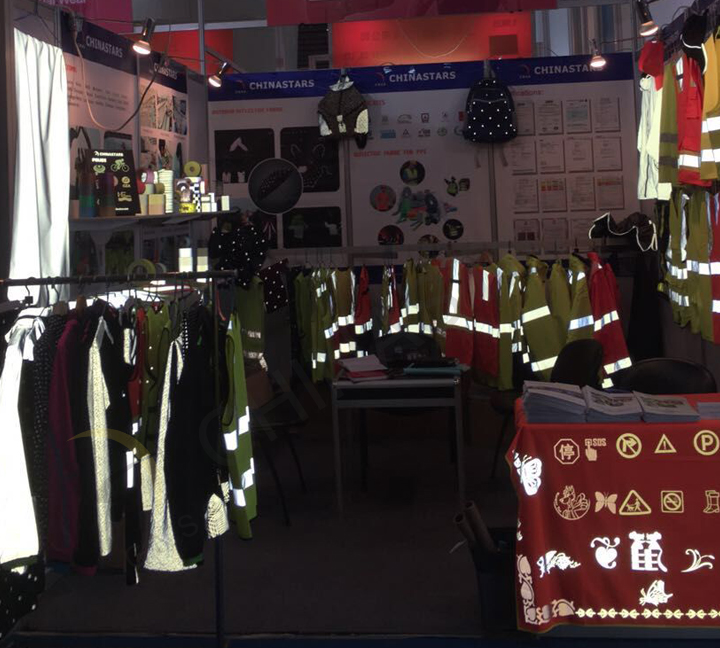 chinastar reflective material in trade fair