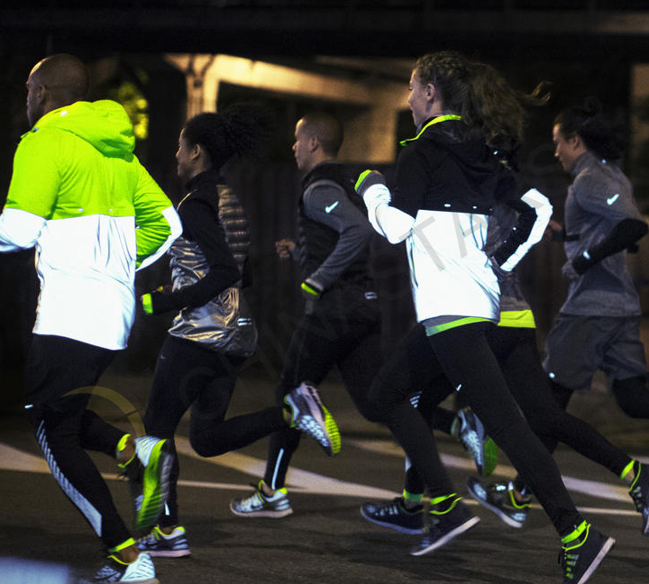 Night running reflective equipment