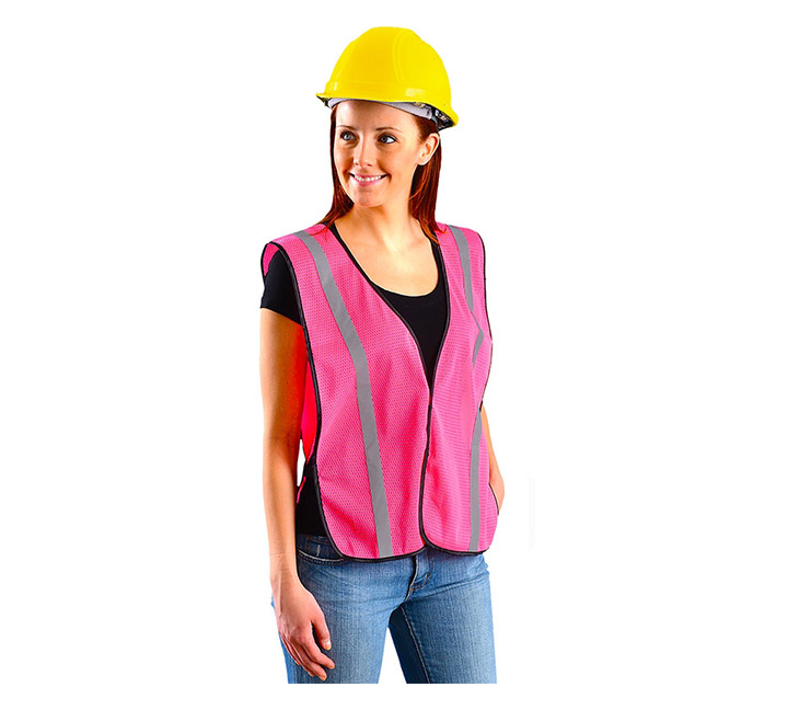 Pink safety vest for women