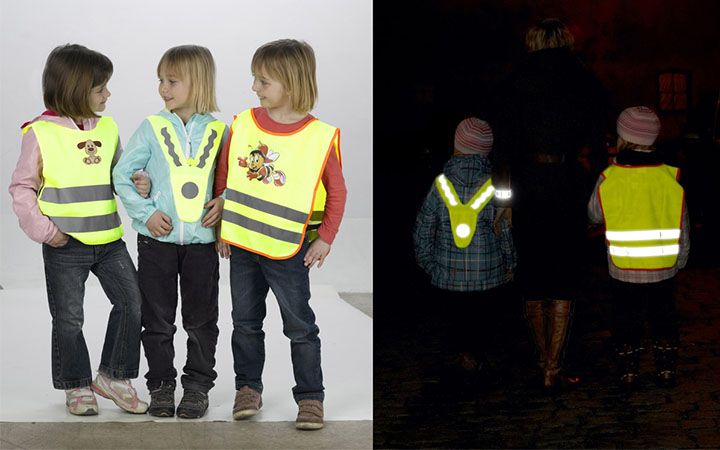 Reflective vest is important for student