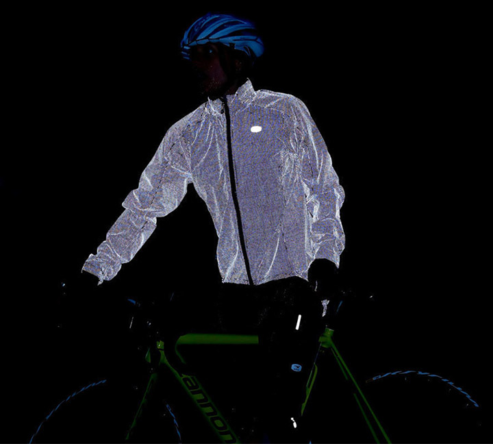 Reflective clothing gives you a pleasant and safe cycling