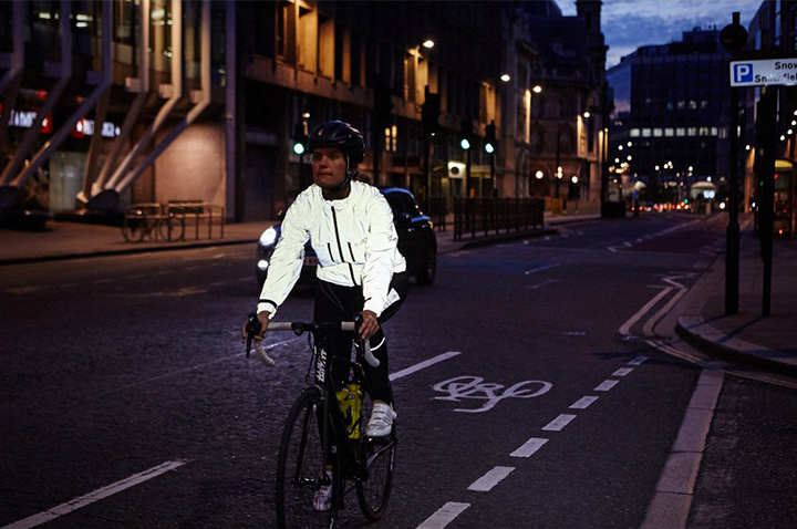 Reflective clothing is essential for night riding
