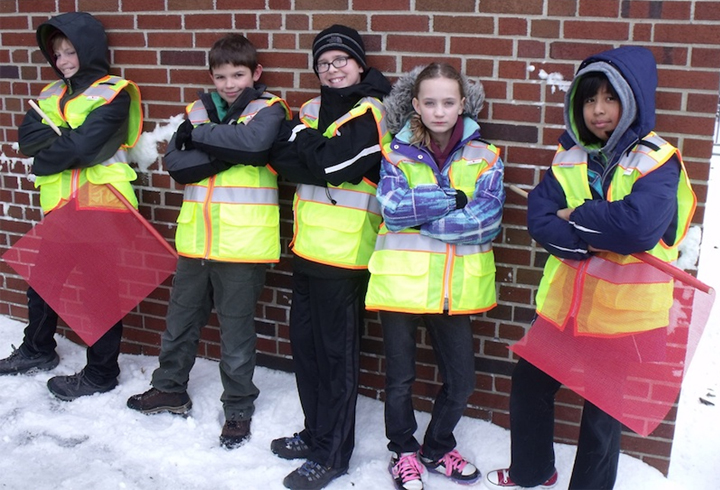 Students are required to wear reflective vest