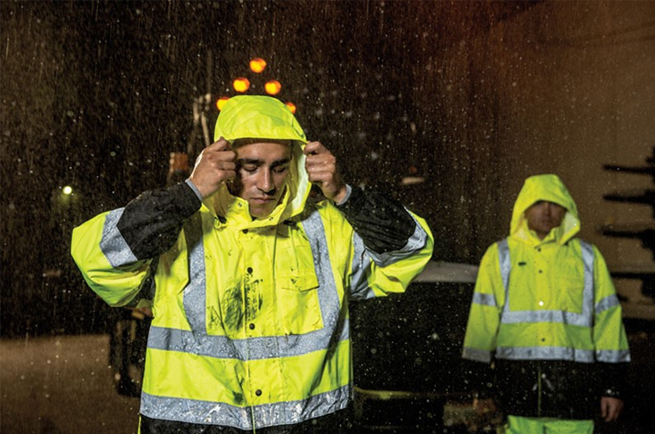 Be prepared with high visibility rainwear
