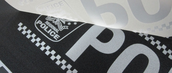 Reflective heat transfer vinyl for plotter cutting