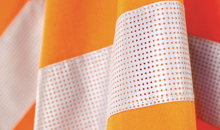 New Perforated FR reflective tape for FR workwear