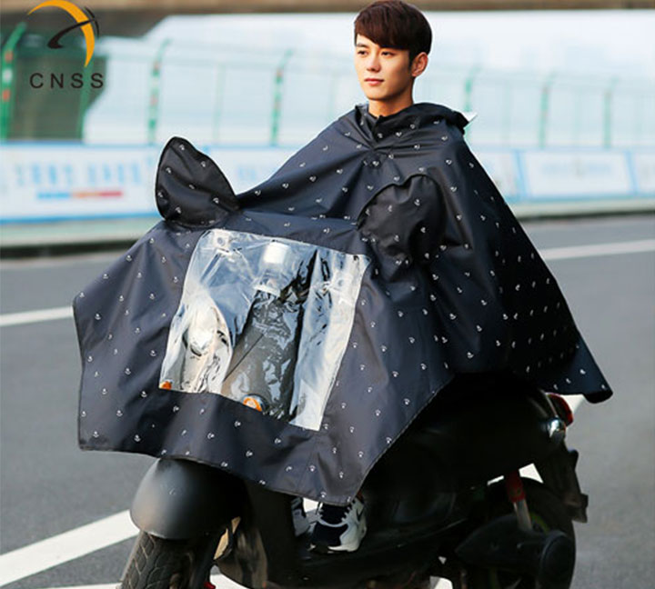 Reflective raincoat for sharing bicycles