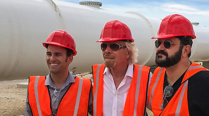 Richard visit hyperloop with wearing reflective vest