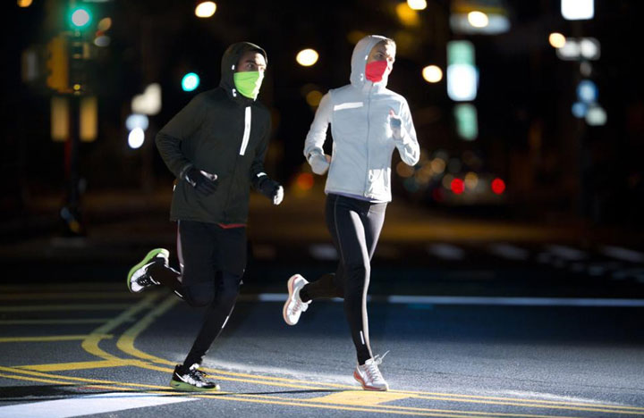 Reflective material is the necessary equipment for night running
