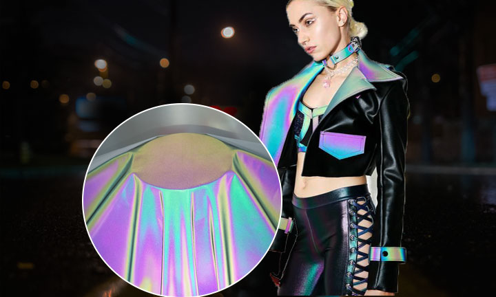 Quality improvements for rainbow reflective fabric