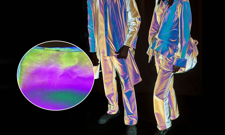 New soft holographic reflective fabric