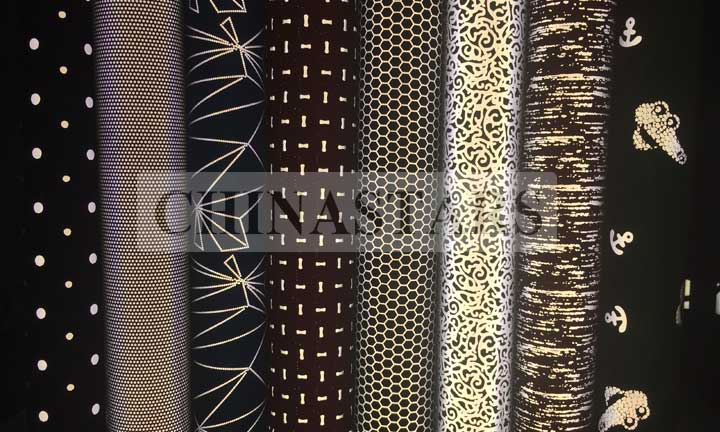 Reflective pattern printing fabric