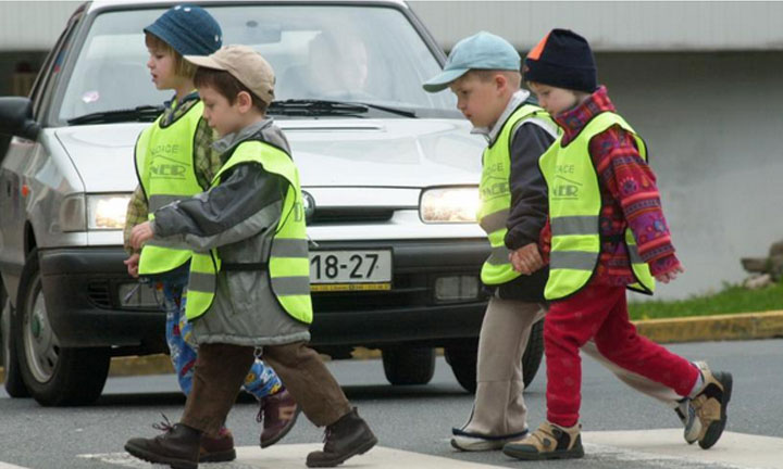 Reflective materials allow children to travel safely