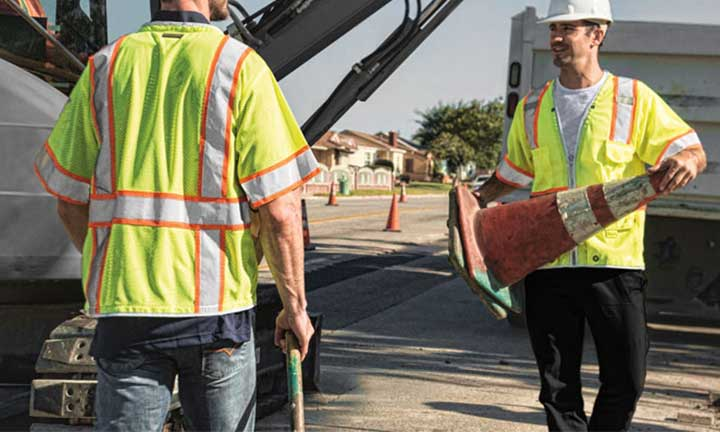 Reflective Safety Vests For Roadside Workers
