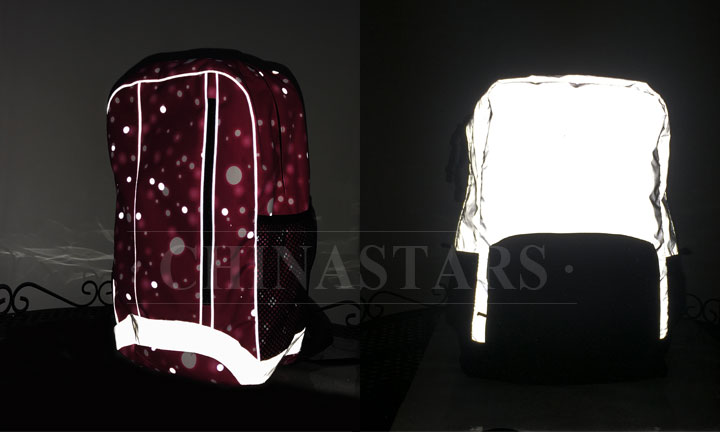 Reflective school bags are hard to find in the market