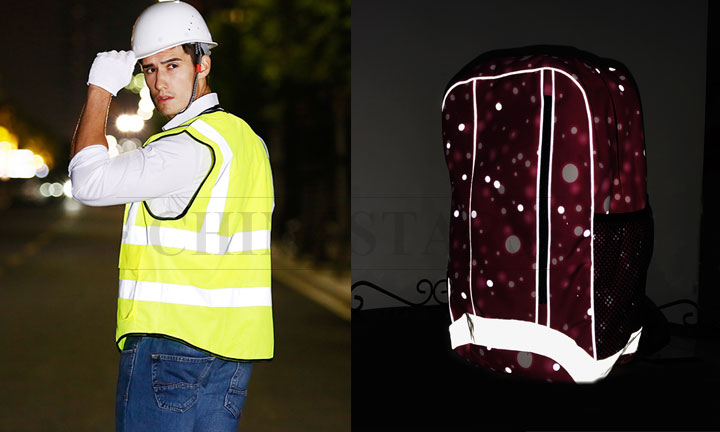 Reflective vests and reflective materials