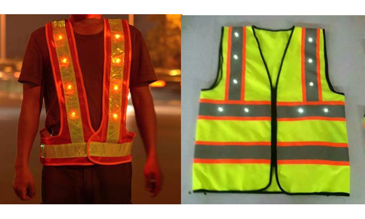 LED safety vest