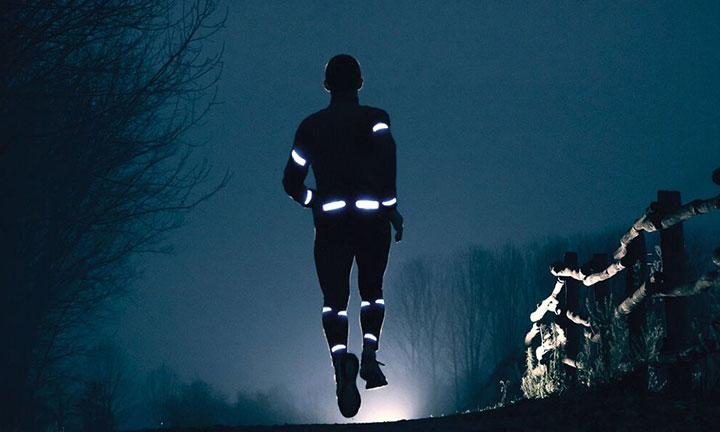 The reflective material is a night runner escort