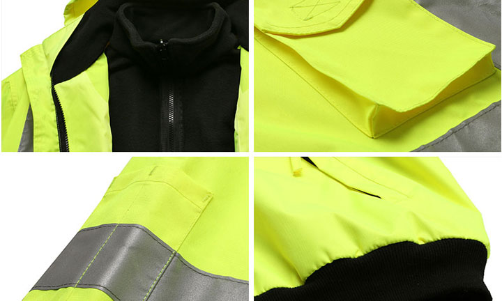 High visibility bomber jacket