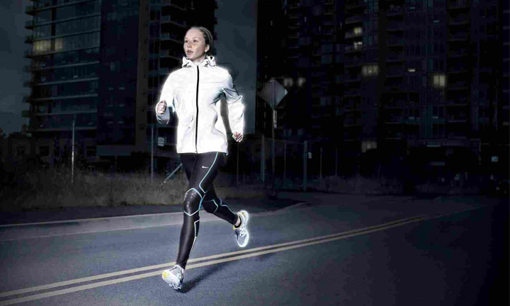 Reflective equipments for night running