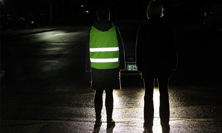 How to protect a pedestrian on the road in the dark