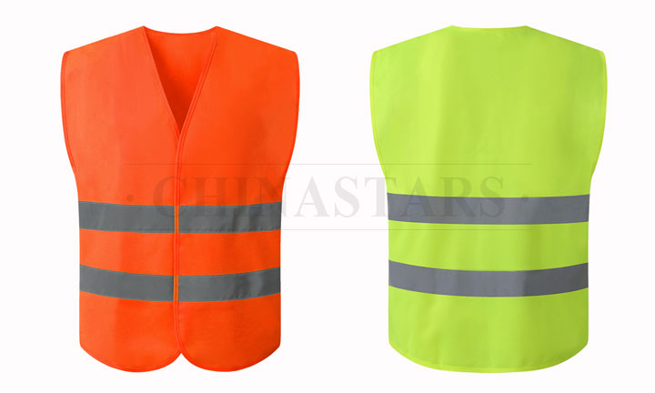 Reflective vest for motorcyclists
