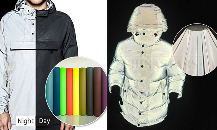 Reflective fabrics for reflective jacket