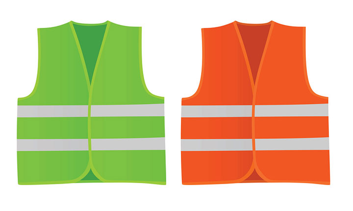 The selection of the safety vests