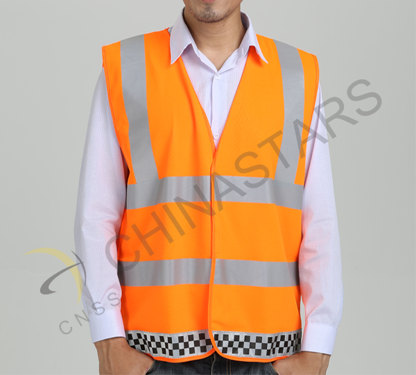 High visibility reflective vest for road security