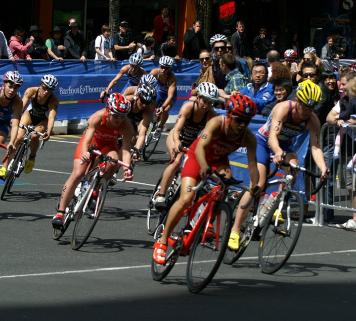 Reflective materials appear in the World Triathlon