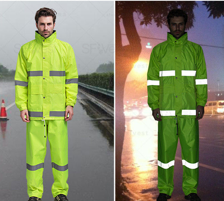 Reflective raincoat makes you safer on rainy day