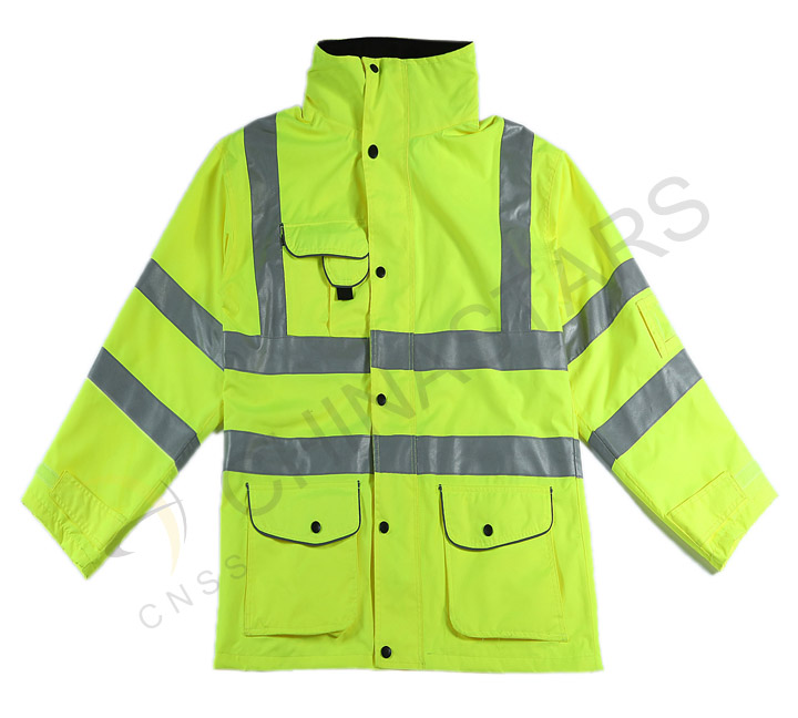 Reflective raincoat for traffic police